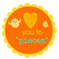 """Reeses Pieces """"love you to pieces"""" printable tag. Teacher apreciation day. Father day. Valentines day. Printable."""