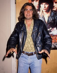 George Clooney   Learnin' the Facts of Life! His luscious locks then shoulder-length, Clooney was a frequent sitcom guest star in 1990.
