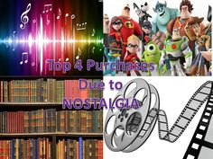Music, toys, literature and movies are the top 4 categories purchased due to nostalgia