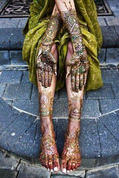 Henna Art, India...