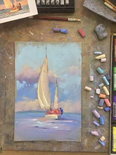 Soft pastel painting techniques for beginners. Chalk Pastel Art, Soft Pastel Art, Pastel Artwork, Oil Pastel Paintings, Oil Pastel Drawings, Chalk Pastels, Chalk Art, Art Drawings, Drawing With Pastels