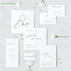 Modern Calligraphy - Printable Wedding Invitation Suite - Simple - Script  - Custom - Download - Invitation Set - DIY - Digital - Gabriella by JakbernCreative on Etsy