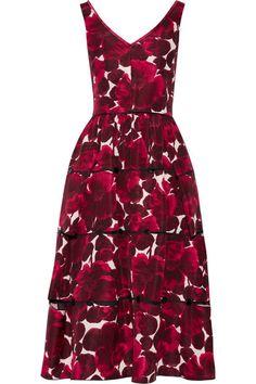Marc Jacobs   Floral-print silk-faille midi dress   NET-A-PORTER.COM