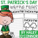 This little writing paper and pre-writing page is perfect for St. Patrick's Day. Your sweet little leprechauns can write 4 things that make them lucky and then put their writing into complete sentences.