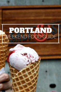 All the best places to eat and get treats in Portland. All of this sounds so good!