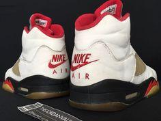 new product 6bcab 062f2 1990 Nike Air Jordan V 5 Original White Black Fire Red sz.12. eBay