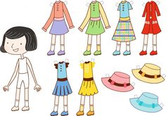 Free printable paper doll.