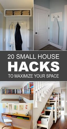 29 sneaky tips hacks for small space living small for Small space living hacks