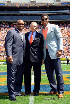 Auburn Heisman Trophy winners Bo Jackson, Pat Sullivan, and Cam Newton were recognized at the 2012 A-Day game I was there! Gabrielle's first trip to Auburn
