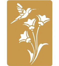 Darice Brass Inch by Inch Embossing Stencil, Bird and Flower. A genuine brass quality embossing stencil. Measures by 3 mm thick. Item dimensions: 2 weight, 3 width, 497 height, 289 length hundredths-inches. Bird Stencil, Stencil Diy, Stenciling, Flower Stencils, Stencil Patterns, Stencil Designs, Image Chat, Scroll Saw Patterns, Kirigami