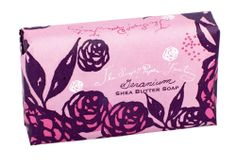 Geranium shea butter soap from The Soap & Paper Factory.