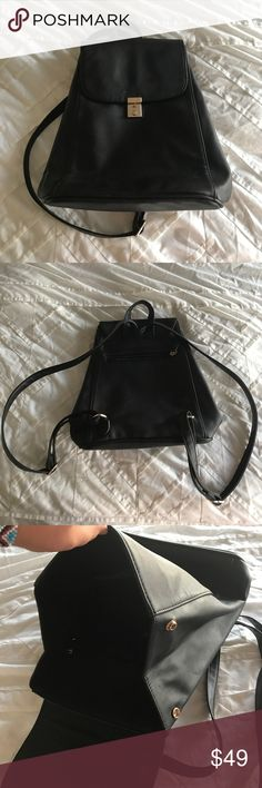 Urban Outfitters Deena & Ozzy Marta backpack black Super cute black backpack, only worn a few times. Comes with key for front lock/clause. Deena & Ozzy Bags Backpacks