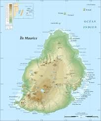 Map of Mauritius for that special vacation.
