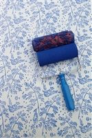 Not wallpaper. Paint rollers with designs. Patterned paint rollers. Home decor.