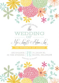 Wedding Card - Floral Breeze