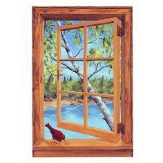 Trompe L'Oeil Window   ... finishes, trompe l'oeil window, trompe l'oeil door, open window