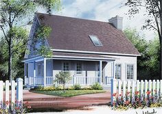 House Plan 65199 | Cape Cod   Country    Plan with 1597 Sq. Ft., 3 Bedrooms, 2 Bathrooms