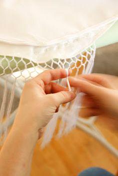 Kjersti sin blogg: Konfirmasjonsforberedelser - frynsing av sjal