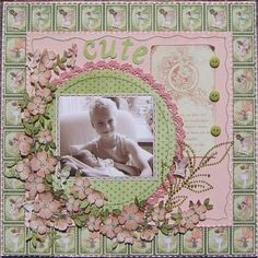 Beautiful Once Upon a Springtime LO by @Amy Lyons Lyons Lyons Lyons Lyons Lyons Lyons Voorthuis! #graphic45 #layouts