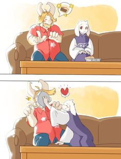 """Undertale - Toriel and Asgore """"Eat Your Pie Husband"""" Source Notes: Tori and Gorey by IMPdev"""