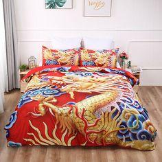 Dragon Duvet Quilt Cover Red Luxury Bedding Set Pillow Cases Single Double King | eBay Duvet Sets, Duvet Cover Sets, Double Duvet Covers, Quilt Cover, Luxury Bedding, Comforters, Pillow Cases, Dragon, Blanket