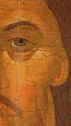 Фотография Religious Icons, Orthodox Icons, Virgin Mary, Byzantine, His Eyes, Detail, Face, Painting, Studio