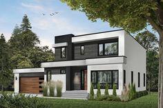 Basement House Plans, House Floor Plans, Small Modern Home, Best Modern House Design, Modern Style Homes, Modern House Colors, Modern Minimalist House, Luxury Modern Homes, Drummond House Plans