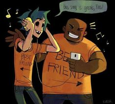 Gorillaz Band, Gorillaz Fan Art, Great Bands, Cool Bands, 2d And Murdoc, 2d And Noodle, Sunshine In A Bag, Russel Hobbs, Character Art