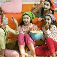 A little spa time is a must for any tween slumber party.