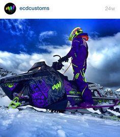 ECD Customs purple and green sled wrap