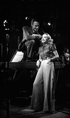 """""""Spoilers, The"""" Randolph Scott and Marlene Dietrich. 1942/Universal Pictures. Her outfit is just fabulous."""