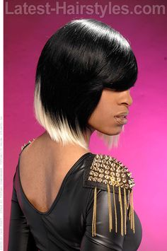 Two Tone Weave Hairstyle Side View