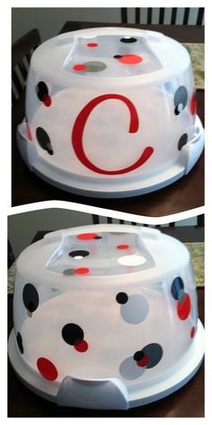 Personalized cake keeper #cricut project