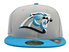 Carolina Panthers NEON LOGO POP 59Fifty NFL Hat by New Era=Grey/Carolina Blue #CarolinaPanthers