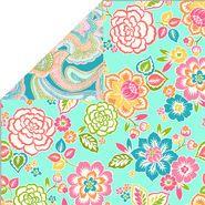 Double Face Quilt Fabric- Garden Gazing