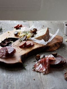 "cured meats and hard, aged stinky cheese. heavenly.   ""Tastiest Free BBQ recipes""   Be my guest and come over for a visit...  http://www.facebook.com/pages/The-BBQ-KING/175439452495088"