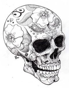 Sugar Skulls Coloring Pages | Printable Coloring Pages by trudybell