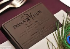 Omg I would die of happiness if I went to a wedding and the menu was printed on chocolate
