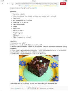 Avocado Choc Brownies
