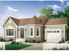 Eplans Country House Plan - Interesting Spaces - 976 Square Feet and 2 Bedrooms from Eplans - House Plan Code HWEPL12932