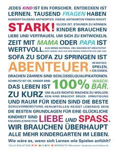 manifest für Kinder-eltern