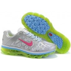 Womens Nike Air Max 2011 Mesh silver/white-green-pink shoes sale