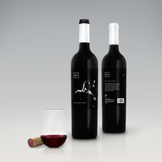 By2 Wine Labels by Chris Forsyth, via Behance