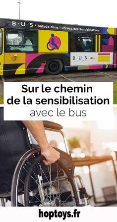 Savez-vous ce qu'est un bus ? Question idiote ! Un moyen de transport bien sûr ! Et bien non, ou en tous cas pas seulement. À Besançon, depuis quelques mois, le BUS c'est une Balade dans l'Univers des Sensibilisations. À l'initiative du CCAS de Besançon, un bus urbain a en effet été aménagé en boutique. Le but ? Sensibiliser le public aux expériences de vie quotidienne des personnes en situation de handicap, renforcer leur accessibilité mais aussi l'empathie à leur égard. Bus, Innovation, Public, Boutique, Sensory Play, Ride Or Die, Learning, Urban, Boutiques