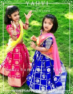 langavoni for kids . ethnic wear by YAHVI Kids Party Wear Dresses, Kids Dress Wear, Kids Gown, Dresses Kids Girl, Kids Wear, Kids Outfits, Kids Lehanga Design, Lehanga For Kids, Kids Frocks Design