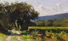 Towards Crillon, Autumn  a daily painting by Julian Merrow-Smith       about     archive     ...