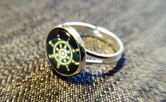 """Ringe - Cabochon-Ring """"Steuerrad"""" - ein Designerstück von Soulmate-Works bei DaWanda"""
