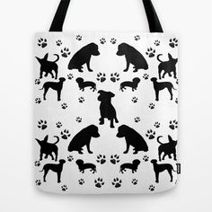 Black Dogs Tote Bag