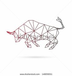 Bull geometric pattern
