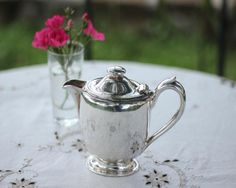 English Vintage Shabby Chic Hotel Silver Tea Pot by EpoqueVintage, €35.00